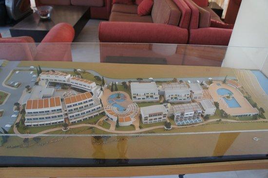 Hydramis Palace Beach Resort: Макет отеля