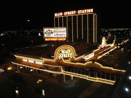 California Hotel & Casino : Night time view from room of Main Street Hotel