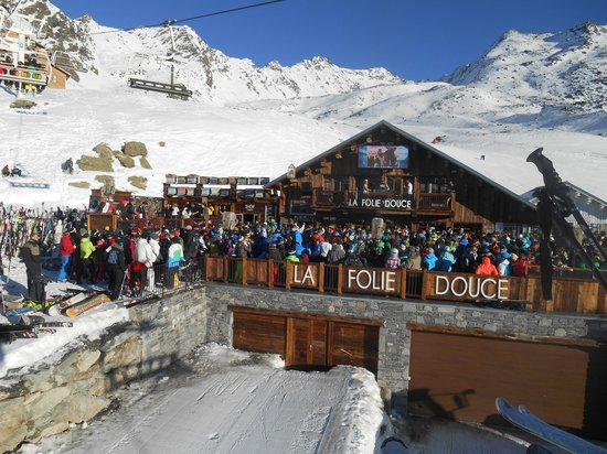 La Folie Douce From The Chairlift Picture Of La Folie Douce La