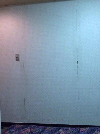 Heiwadai Hotel Otemon: 壁も薄汚れていました
