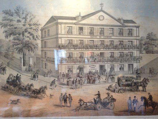Hotel de Londres: L'hôtel romantique vers 1840