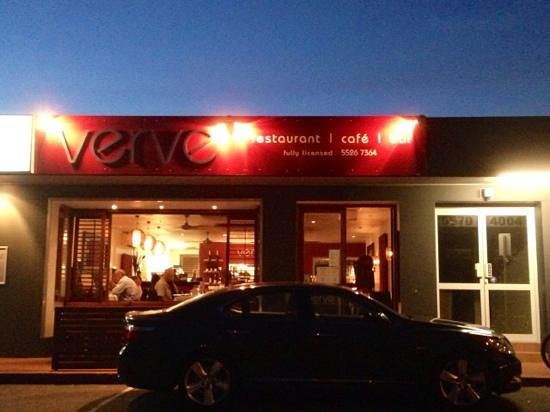 Verve : The front of the Restaurant
