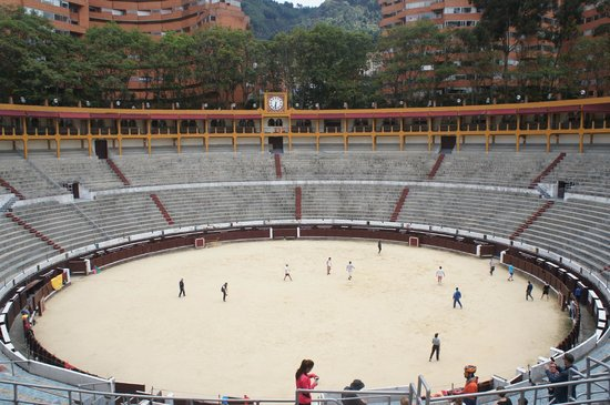 Bogota Bike Tours: bull fighters in training….playing soccer