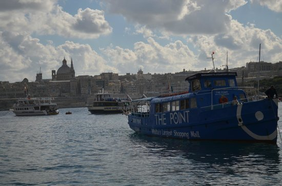 The Victoria Hotel: The Sliema/Valletta ferry approaches