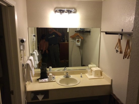 Red Roof Inn Forrest City: vanity area