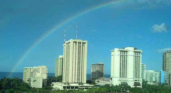 Luana Waikiki Hotel & Suites: window view
