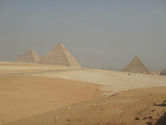 Pyramiderna utanför Giza: Красивая панорама