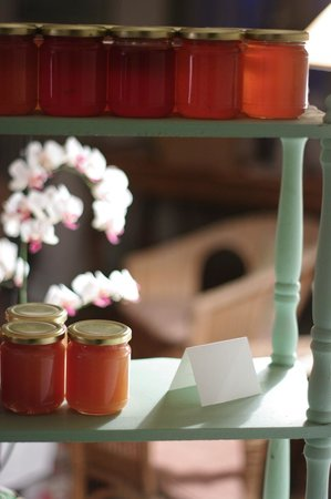 Au Soleil : her homemade jam that you get at breakfast, she also sells