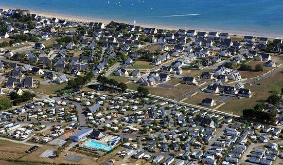 Damgan, Francia: Vue aérienne du camping Grand Air Cadu