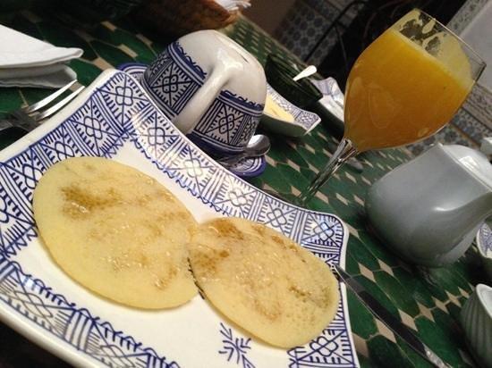desayuno en el Riad Al Mamoune