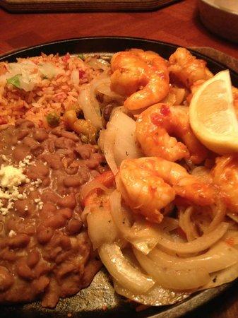 Tio Juan's Margaritas Mexican: Shrimp Fajitas