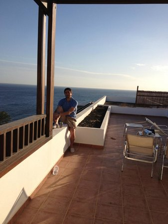 Hesperia Lanzarote : Beautiful view of our roof terrace and the sea