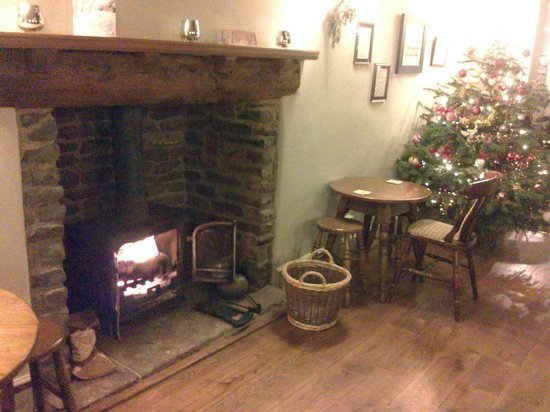 The Red Lion: Real log fire.