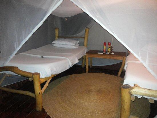 Migunga Tented Camp: rustic comfy beds
