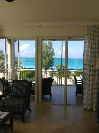 The Venetian on Grace Bay: view to balcony and sea