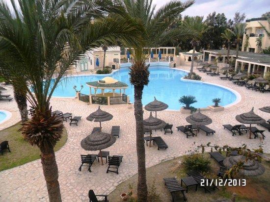 Hotel Bravo Hammamet: Excellente vue depuis le balcon de la chambre