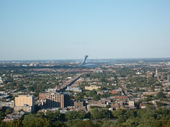 Holiday Inn Montreal Longueuil : vue sur le stade olympique