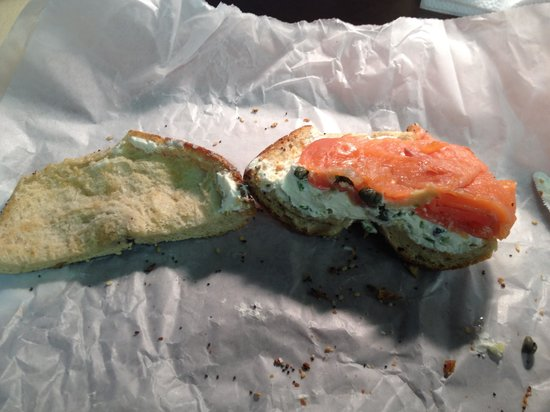 Ess-a-Bagel: Poorly spread, no QC, overpriced at $12