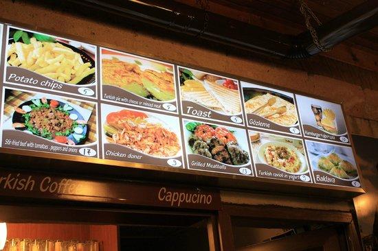 Maccan Cafe Restaurant: menu