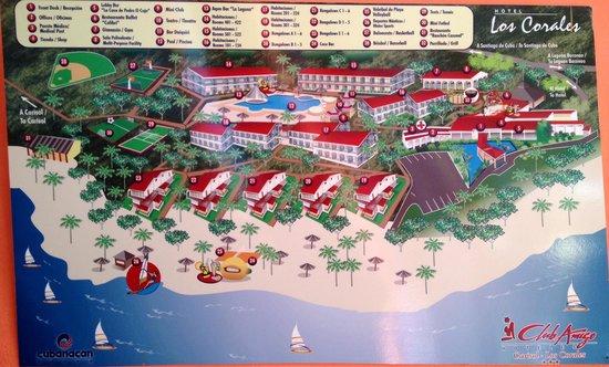 Club Amigo Carisol Los Corales: Hotel map