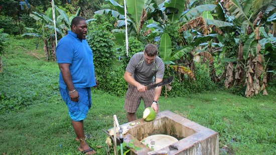 Top Caribbean Tours: Cutting a coconut