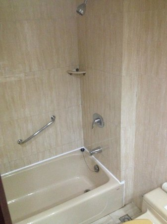 Beijing Yanshan Hotel: Shower / Bathtub
