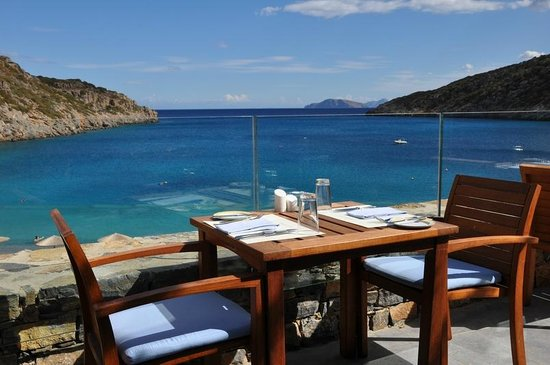 Daios Cove Luxury Resort & Villas: Daios Cove - un restaurant