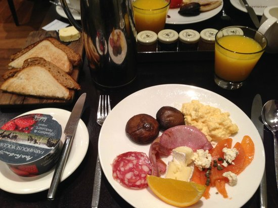 The Balmoral Hotel: Balmoral breakfast.  This is just a sample of what is available; very good.
