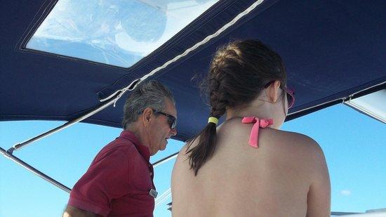 Cruz Bay Watersports: My daughter and Captain Richard sailing