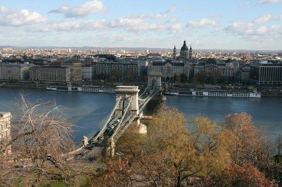 Colina y Estatua Gellért: View of the Chain Bridge