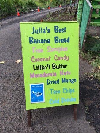 Julia's Banana Bread : Julia's Banana Bread Sign