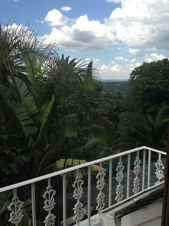 Northcliff Manor Guest House: view from balcony of room 3