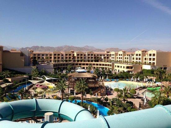 Coral Sea Aqua Club Resort: view from the big slides
