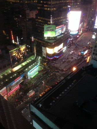 New York Marriott Marquis: View from 23rd floor room