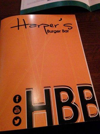 Harper's Burger Bar: Menu Cover