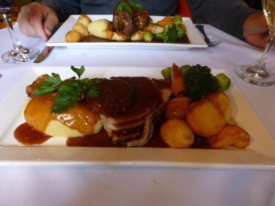 The Stansfield Arms: generous turkey dinner and lamb shank...