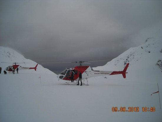 Glacier Helicopters: Sulla sommità del ghiacciaio