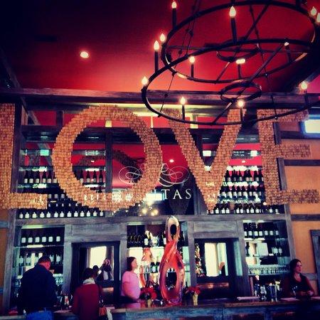 Veritas Vineyard & Winery: #loveva.  The tasting room.