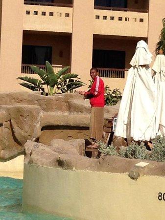 Coral Sea Aqua Club Resort: Ahmed the life gaurd