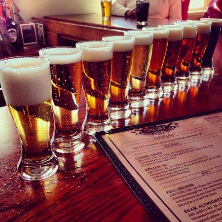 Blue Mountain Brewery: Sampler Flight.