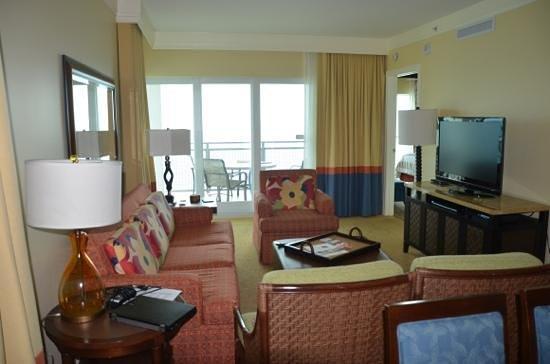 Marriott's Oceana Palms: Living room,corner suite.