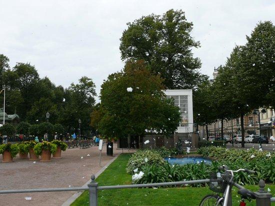 The Esplanadi Park: Пена летает по парку Эспланады