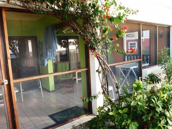 Sand Dollar Condominiums: screen porch A1