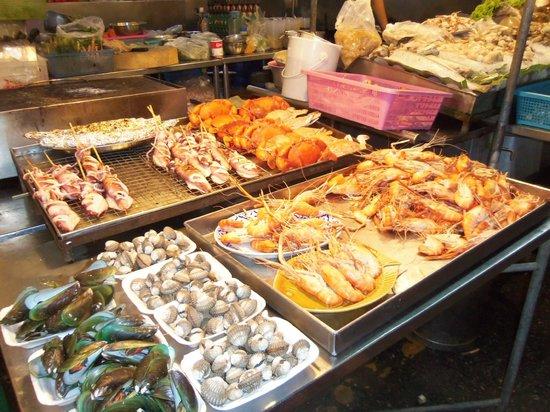 KO Seafood Restaurant: Crevettes pas grises