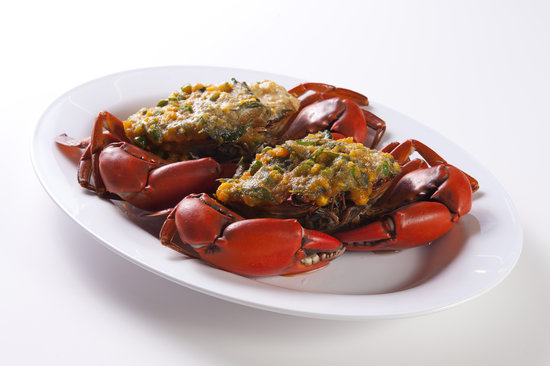 Pinang Taste Seafood Restaurant : Crab with Salted Egg