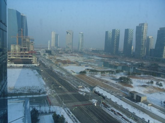 Orakai Songdo Park Hotel: View from my room, December 2013