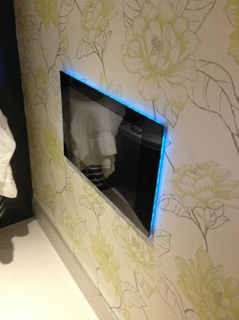 Applegarth Villa and Restaurant: Bathroom TV
