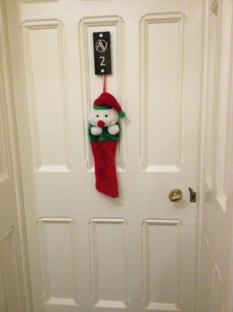 Applegarth Villa and Restaurant: Greeted with a stocking