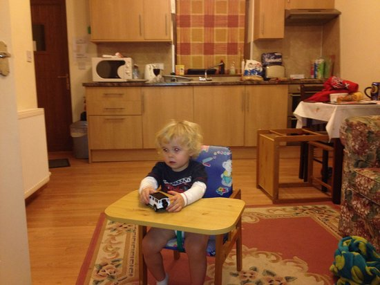 Lazy Daisy's Luxury Holiday Cottages: Our wee man Jakob all ready for lunch