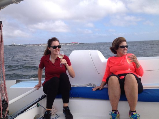 Charleston Sailing Adventures Prevailing Winds: Pinot Grigio Time